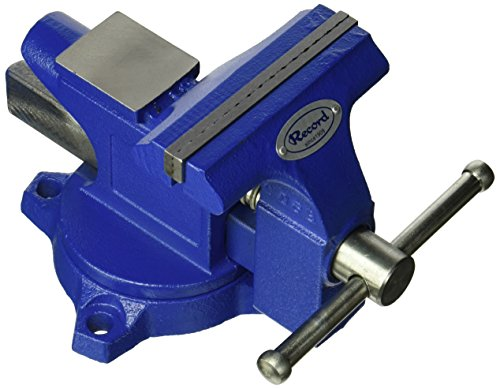 [해외]IRWIN 도구 기록 가벼운 작업장 Vise, 4.5 인치 (4935507)/IRWIN Tools Record Light Duty Workshop Vise, 4.5-Inch (4935507)