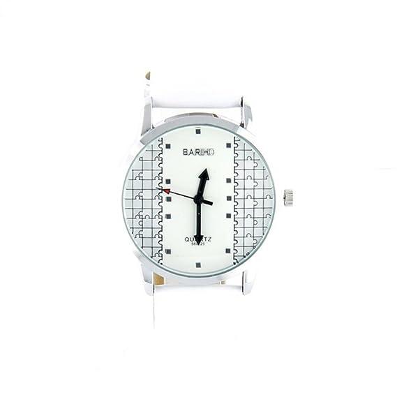Reloj mujer diseño de puzzle pulsera blanco My-Montre ...