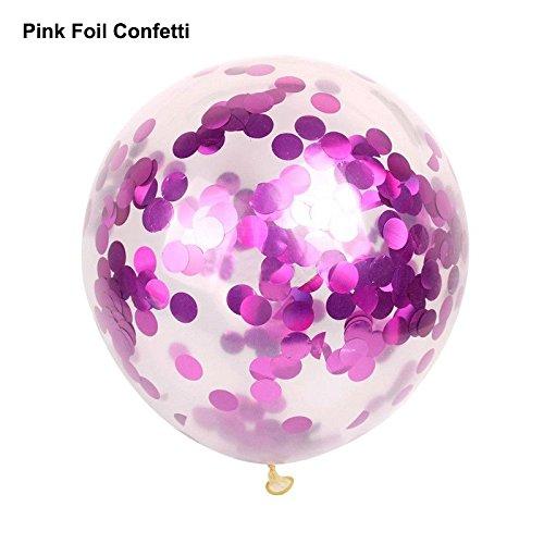 Tianu 2408/5000 12 Globos de confeti de colores con papel ...