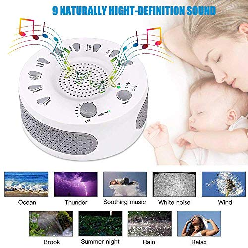 Umiwe White Sound Machine Therapy with Timers Natural Sound Options Baby Home & Office