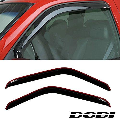 Deebior 2pcs In Channel Dark Smoke Tinted Sun Rain Guard Vent Shade Window Visors For 1993-2011 Ford Ranger 92083 ()