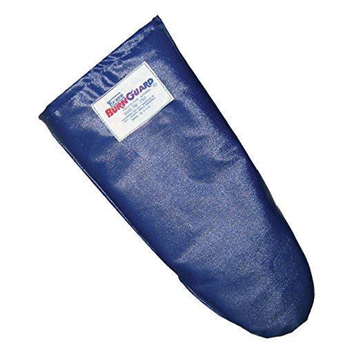 Tucker Safety Products 55182 Tucker QuicKlean Protective Apparel, Conventional Style Oven Mitt, Poly-Cotton, Medium, 18'', Blue by Tucker Safety