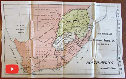 South Africa Military advertising map 1899 Transvaal Britain War Chase Roberts ()