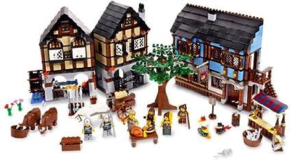 Amazoncom Lego Castle Medieval Market Village 10193 Lego Castle