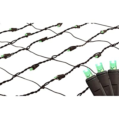 2' x 8' Green LED Net Style Tree Trunk Wrap Christmas Lights - Brown Wire
