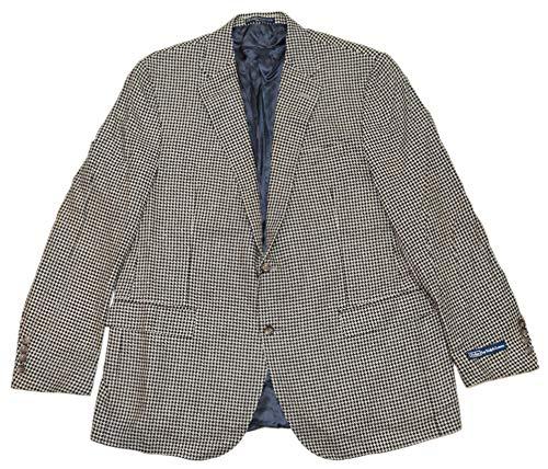 - Ralph Lauren Polo Mens Houndstooth Blazer Jacket Silk Black Cream Italy 46R