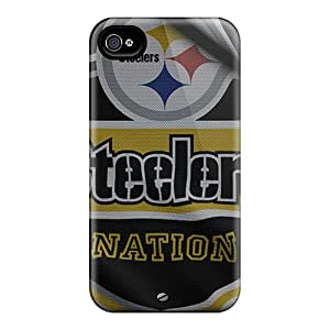 Scratch Protection Cell-phone Hard Covers For Iphone 6plus With Provide Private Custom Realistic Pittsburgh Steelers Pattern KimberleyBoyes