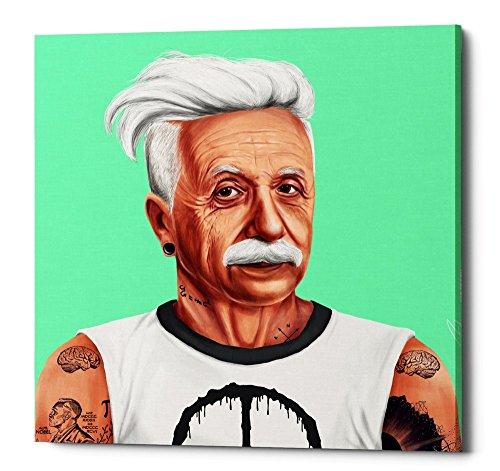 Epic Graffiti Albert Einstein Gisele Canvas Wall Art by Shimon Illustrations, 12