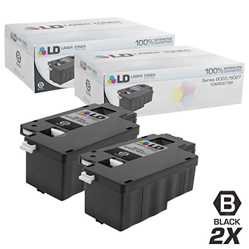 Compatible Xerox 106R02759 Set of 2 Black Laser Toner Cartri