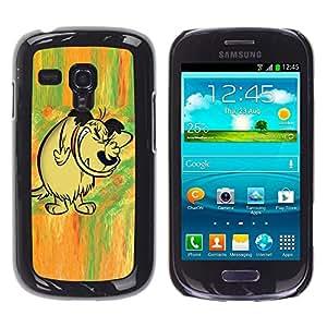 TECHCASE**Cubierta de la caja de protección la piel dura para el ** Samsung Galaxy S3 MINI NOT REGULAR! I8190 I8190N ** Dog Drawing Cartoon Comic Forest Fairytale