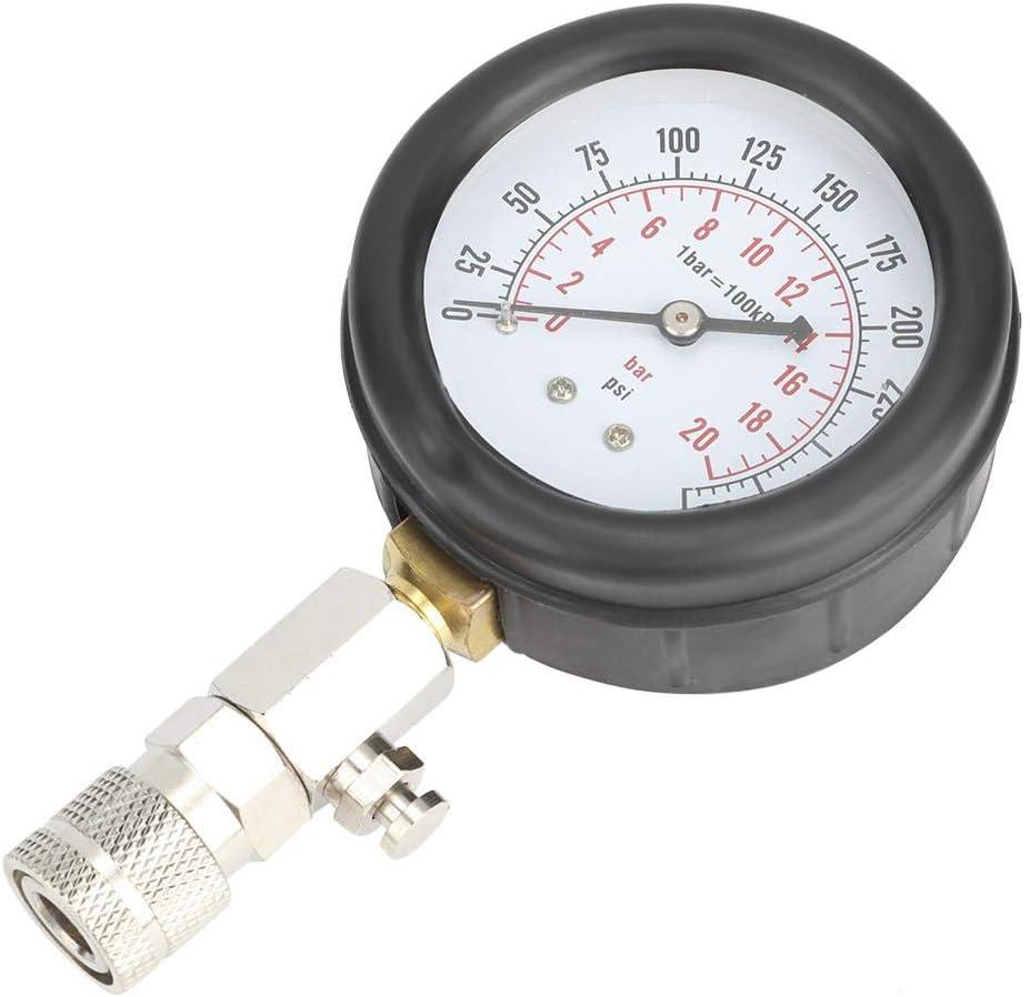 8Pcs Manom/ètre de Pression dHuile Testeur de Compression dEssence 0-300PSI pour Voiture Jauge de Pression dHuile