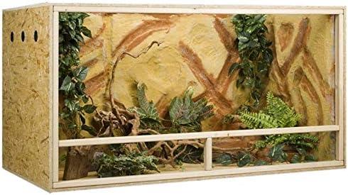 Concepto de madera de terrario OSB, 150 x 80 x 80 cm, ventilación lateral: Amazon.es: Hogar
