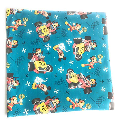 Mickey Mouse Roadster Racers Christmas Wrapping Paper (2 Rolls)