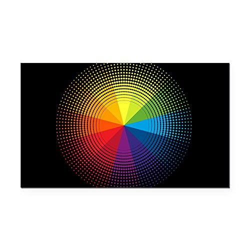 - Rectangle Car Magnet Artist Rainbow Color Wheel