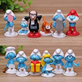 Smurfs The Lost Village Cake Topper | 12 Figure Set | By ToysoutletUSA