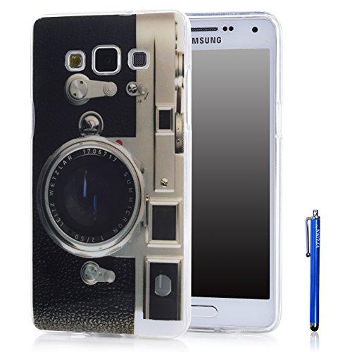 A5 Case,Galaxy A5 Case,Vfunn Premium TPU Gel Scratch Resistant Slim Fit Funny Cartoon Case Cover for Samsung Galaxy A5 with 1 Screen Protector 1 Blue Stylus Pen (A5 TPU Case) (Camera)