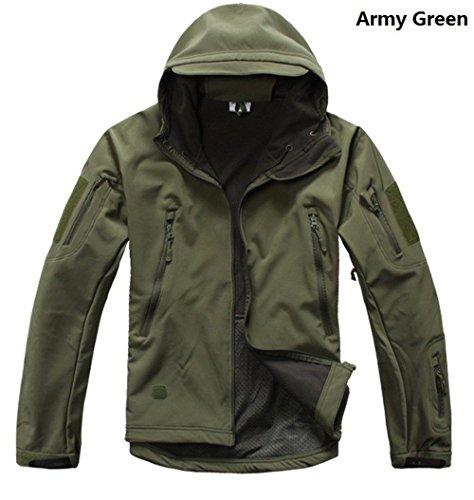 Cravog Green Parka Uomo Army Giacca rvnwRpqr