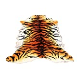 Gracefur Area Rug Chic Style Tiger Leopard Printed Australia Sheepskin Rug Soft Plush Eco-Friendly Rug Fits Perfectly in Living Room/Bed Room or as a Couch Decor One Pelt 1