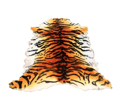 Gracefur Area Rug Chic Style Tiger Leopard Printed Australia Sheepskin Rug Soft Plush Eco-Friendly Rug Fits Perfectly in Living Room/Bed Room or as a Couch Decor One Pelt 1 by Gracefur