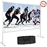 Varmax Outdoor Projector Screen with Stand foldable PVC for outdoor movie 120 inch 16:9