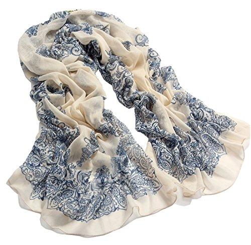 Vip2014 Women Girls Fashion Soft Scarf Wrap Chiffon Shawl Silk Scarves (Chiffon Silk Belt)