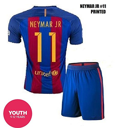 free shipping 12cf8 75efc FC BARCELONA MESSI #10 FOOTBALL SOCCER KIDS/YOUTH HOME JERSEY (L size (for  age 10-12), #11 Neymar)