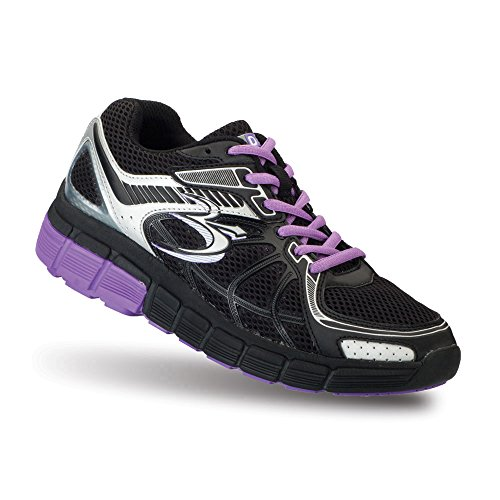 Gravity Defyer Gravity Defyer Women's G-Defy Super Walk Black Purple Athletic Shoes 9 M US Shock Absorbing Shoes for Plantar Fasciitis Shoes for Heel Pain price tips cheap