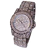 Women Wrist Watches, FTXJ Luxury Bling Rhinestone Ceramic Crystal Quartz Watch