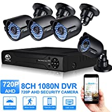 JOOAN 8CH 1080N DVR Recorder With 4pcs 720p Outdoor Security Camera Video Surveillance System Plug and Play