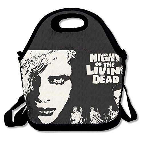 Black Night Of The Living Dead Unisex Lunch Tote Bag For Woman Man (Halloween 2 Remake Mask)