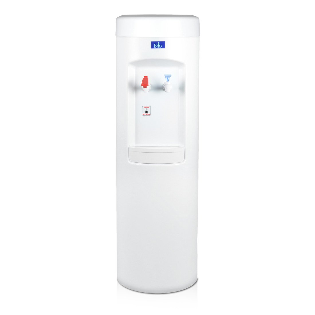 White BottleLess Water Purification Cooler with 1,500-Gallon capacity water filtration and installation kit. From BottleLess Direct (Model: BDX1-WK). Dispenses Hot & Cold water. (Also available in black)