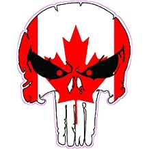 """Punisher Canadian Flag Version 2 Decal 5"""""""