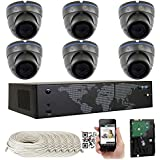 GW Security High Definition 8 Channel 4K 8MP NVR with (6) x HD-IP 5.0 MP Network PoE Outdoor or Indoor Security Camera System 2TB HD