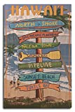 North Shore, Oahu, Hawaii - Destinations Sign (10x15 Wood Wall Sign, Wall Decor Ready to Hang)