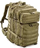 EverTac 40L Large Military Tactical MOLLE Backpack Best Pack for Bug Out Bag, 3 Day Assault, Hunting, Hiking, Rucksack (OD Green)