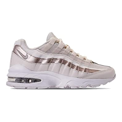 free shipping e4a83 3fb88 Nike Air Max  95 LE Phantom Metallic Red Bronze-White (GS)