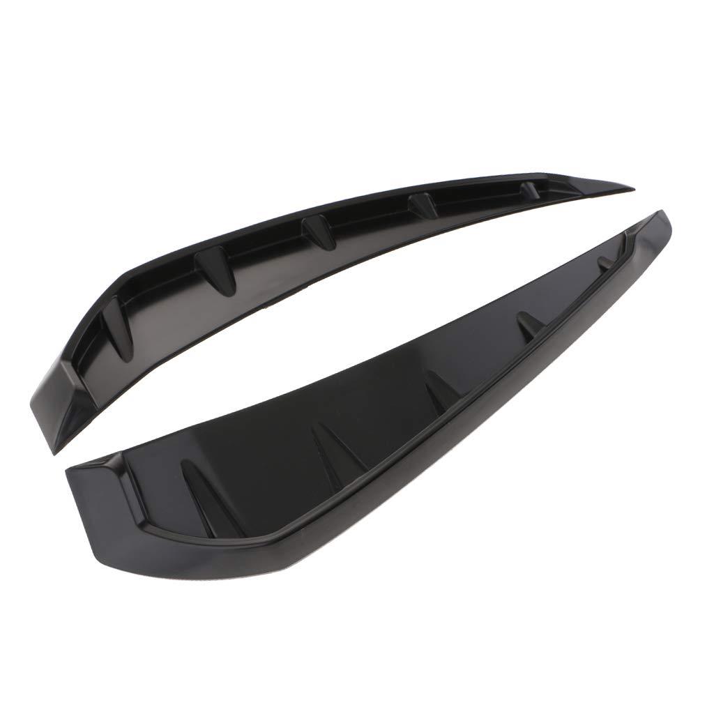 Gl/änzend schwarz perfk Auto Selbstklebend R/ückseite Bel/üftung Kotfl/ügel Lufteinlass Abdeckung Aus Kunststoff