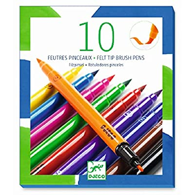 Papo 10 Felt Brushes - Classic Colors: Toys & Games