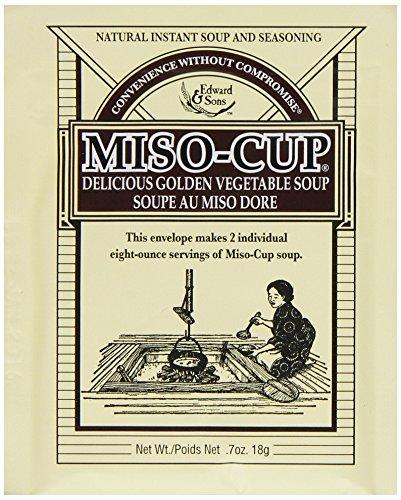 Edward & Sons Miso Cup Original Golden Vegetable Soup, Two Serving Envelopes (Pack of 24)