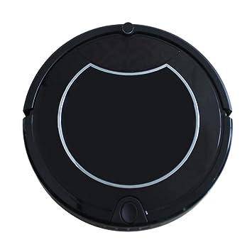 DPPAN Robot Aspirador Fregona, Succión Fuerte Robot Aspirador Iimpieza, Adecuado para Pelo de Mascotas, Delgado Alfombra, Pisos Duros,Black: Amazon.es: ...