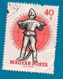 Used Hungary Postage Stamp 1959 (Scott 1244) Hungarian Soldier 19th Century 40f