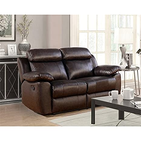 Peachy Amazon Com Abbyson Brody Top Grain Leather Reclining Unemploymentrelief Wooden Chair Designs For Living Room Unemploymentrelieforg