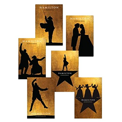 Official Hamilton Musical Silhouette Postcard Set