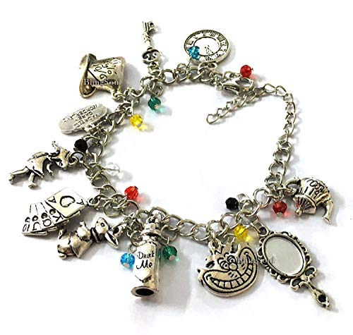 Alice Charm Wonderland Bracelet - Costume Jewelry Gifts Merchandise Women Girls