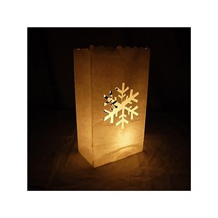 Amazon.com: quasimoon Copo de Nieve Paper Luminaries ...