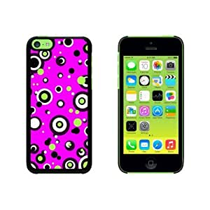 Circles Dots Pink Snap On Hard Protective For HTC One M9 Phone Case Cover - Black