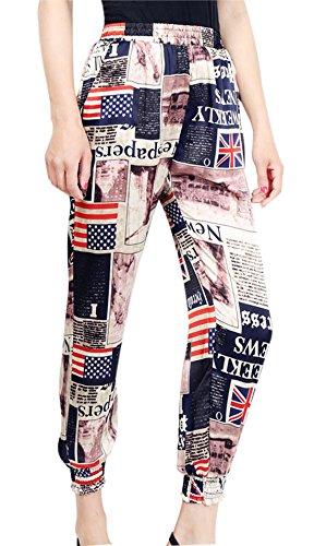 Gihuo-Womens-Casual-Loose-High-Waist-Nine-Points-Printed-Harem-Pants