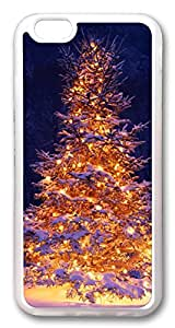 iphone 6 4.7inch Case and Cover Lit Christmas Tree In Snow TPU Silicone Rubber Case Cover for iphone 6 4.7inch Transparent