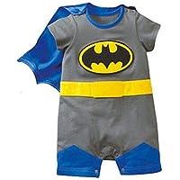 DS (Gr. 62-86) NIEDLICHER BATMAN STRAMPLER *Gr. 62* BABY OVERALL BODY
