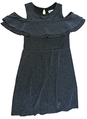 Epic Threads Big Girls' (7-16) Cold-Shoulder Dress Deep Black Medium -